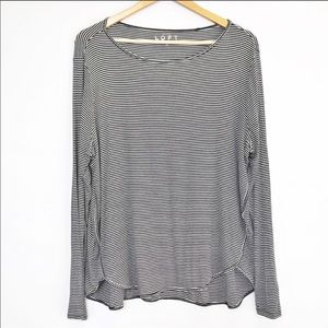 LOFT Striped Long Sleeve tee - XL